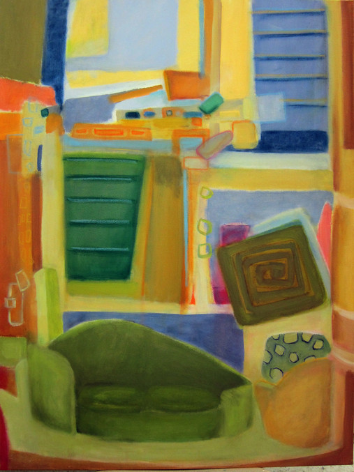 """Room with a View, 40""""x30 acrylic on canvas"""