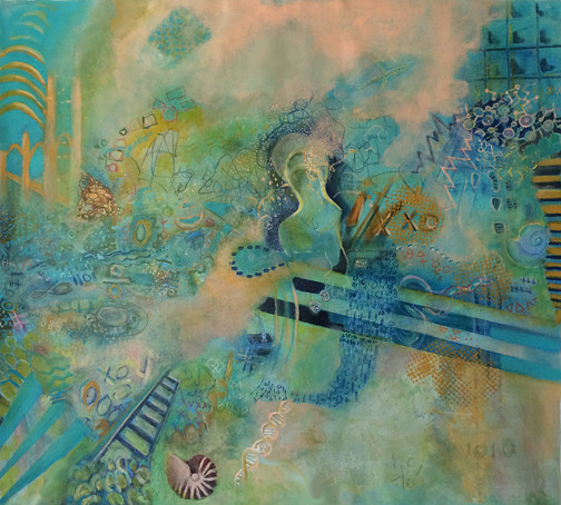 """Figuring Out the Universe (36""""x40"""") by J Strayer"""