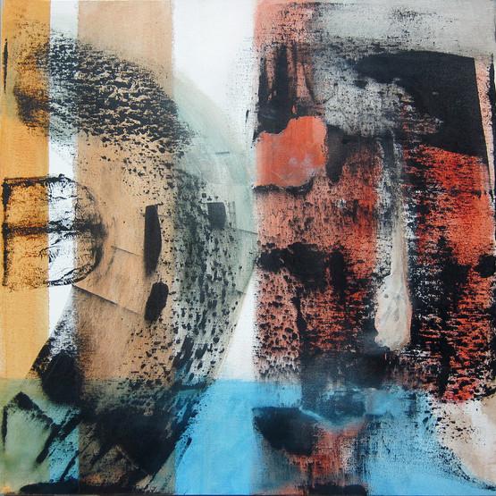 Vectors series: Coincident _20x20_acrylic on canvas_Janet Strayer Art