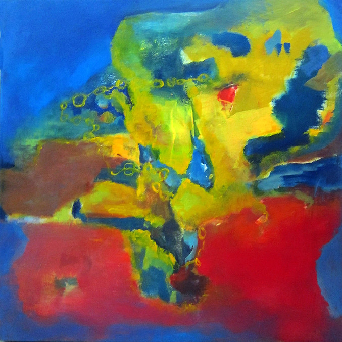 "PrimaryLinks, 24""x24"", acrylic on canvas"
