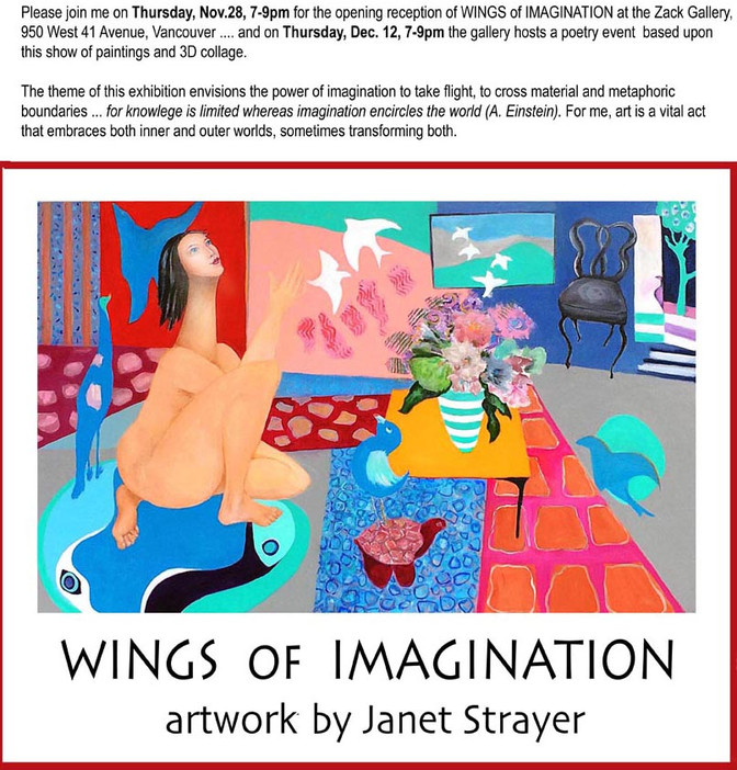 Wings of Imagination: show opens Nov.28!