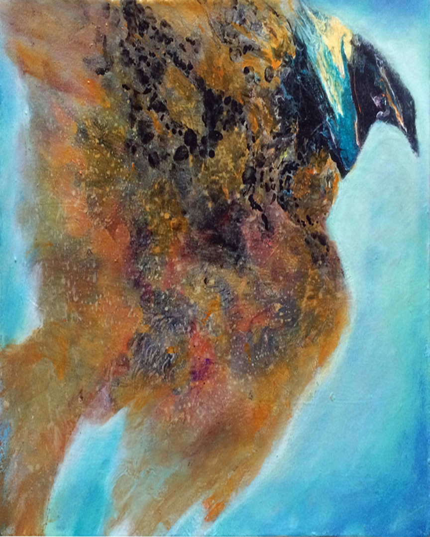 "Flight, 16""x20"", acrylic on canvas"