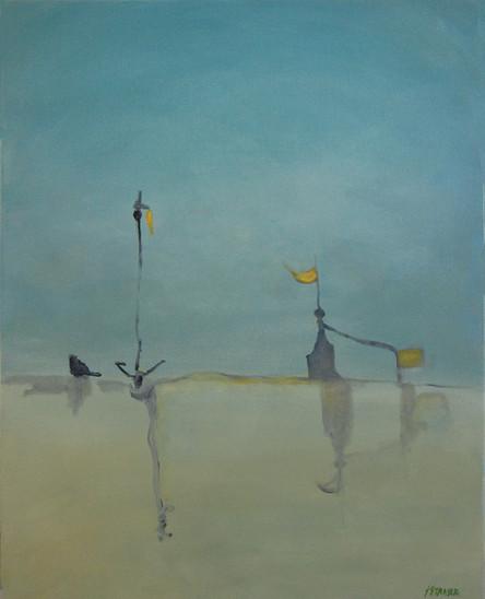 "Beacons, acrylic on canvas, 30x24"", SOLD"