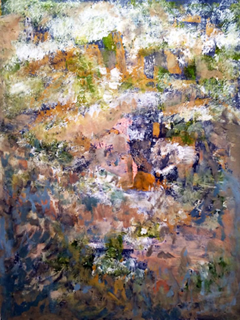 """Earthbound,40""""x30""""acrylc on canvas,"""