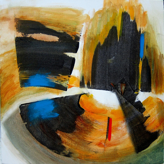 Vectors series: Spin_16x16_acrylic on canvas_Janet Strayer Art