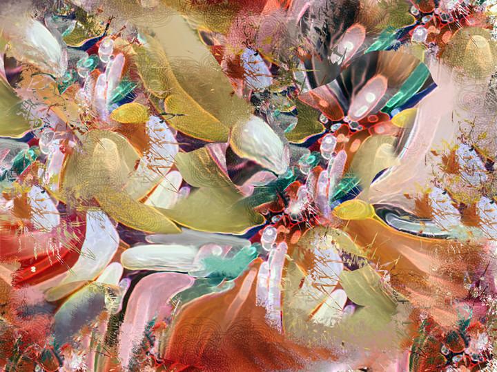 Petal Jewels. Ltd. Ed. 1 of 5, digital painting