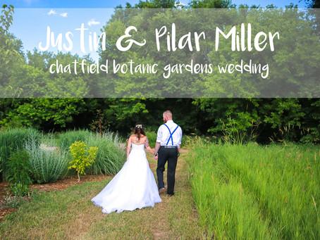 Colorado Rockies Pitcher Justin Miller and Pilar Miller's Chatfield Botanic Garden Wedding