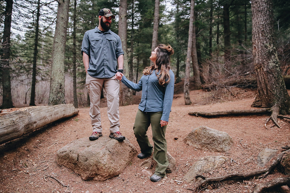 colorado adventure engagement photographer