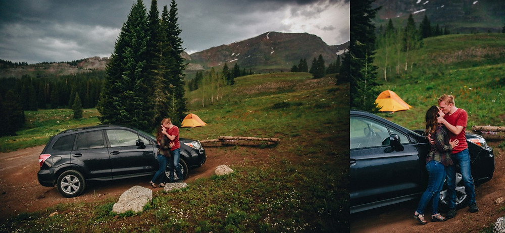 Colorado Camping Couples Session