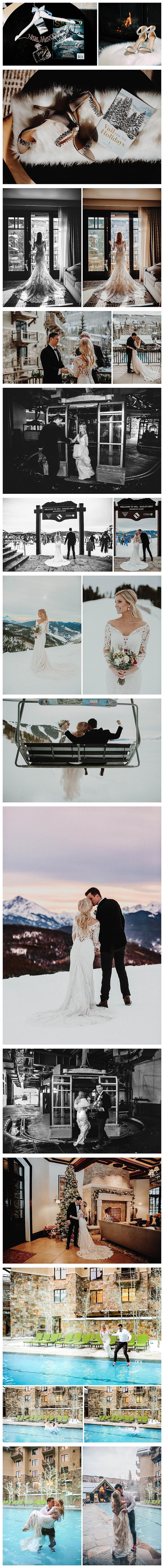 Vail Christmas Elopement Photographer - Vail Winter Wedding Photographer - Four Seasons Vail Wedding