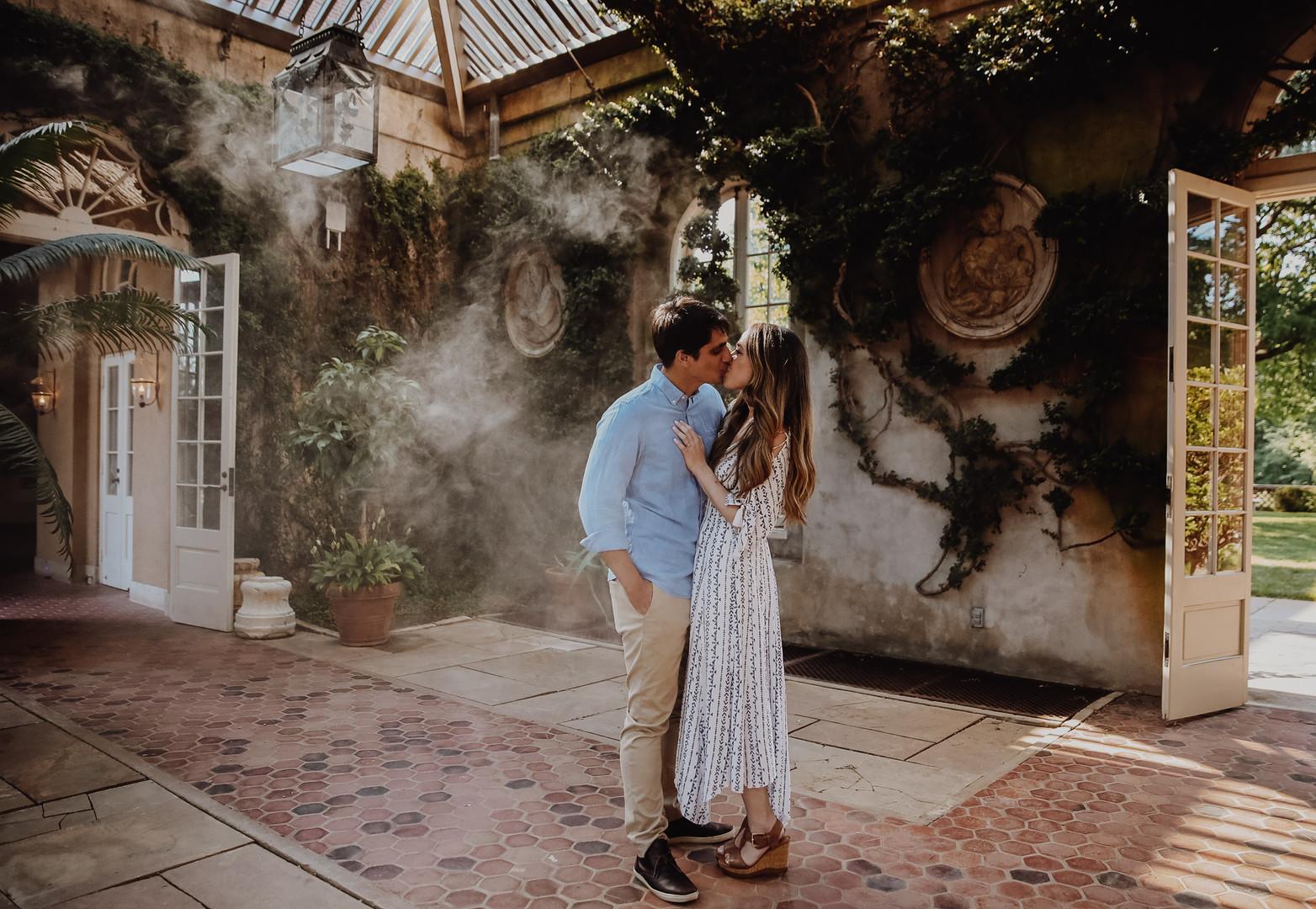 georgetown wedding photographer - dumbarton oaks engagement session