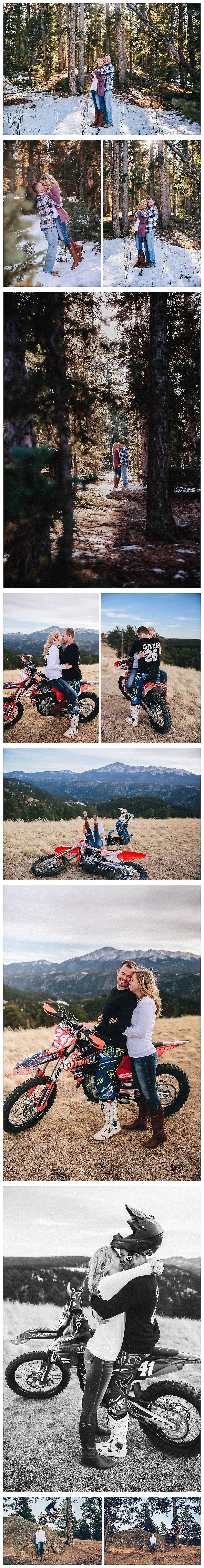 Colorado Mountain Engagement Photographer - Colorado Dirt Bike Engagement Photography