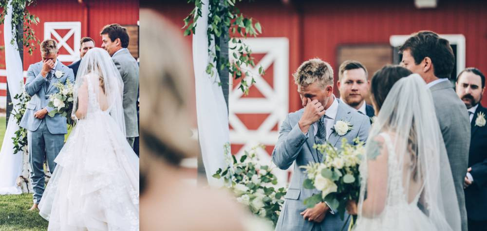 grooms crying during ceremony