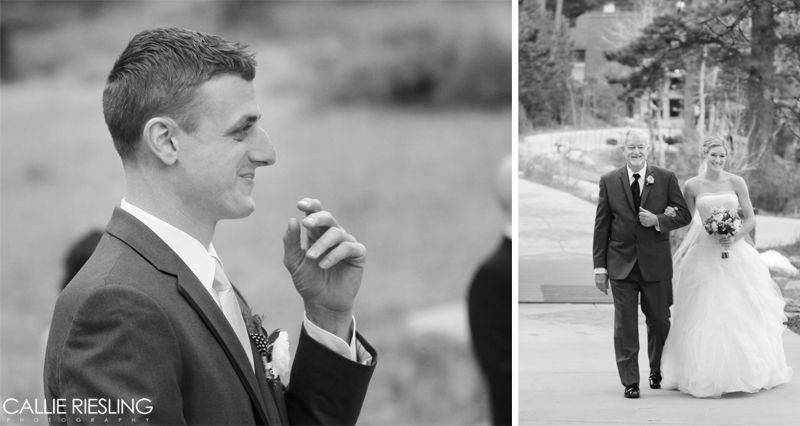 Della Terra Mountain Chateau Wedding Photography - Best Groom Reactions