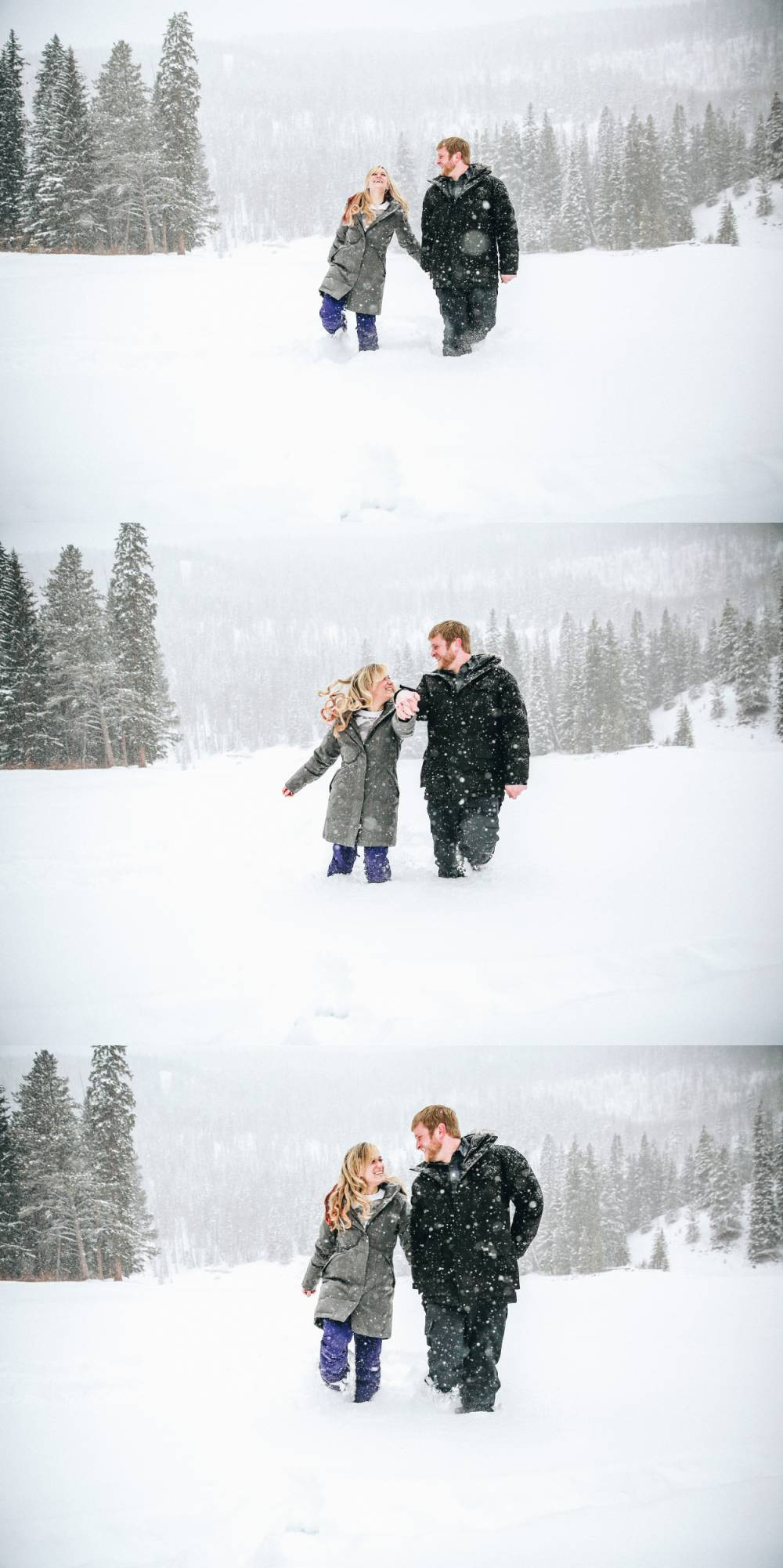 georgetown winter engagement photos