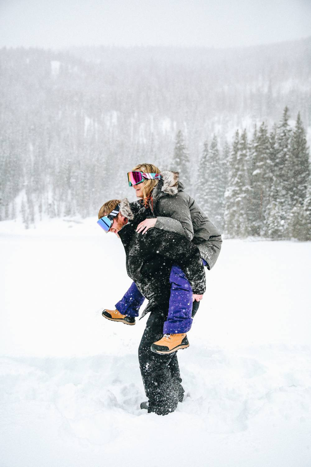 copper mountain engagement session