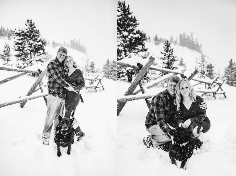 frisco colorado winter engagement session