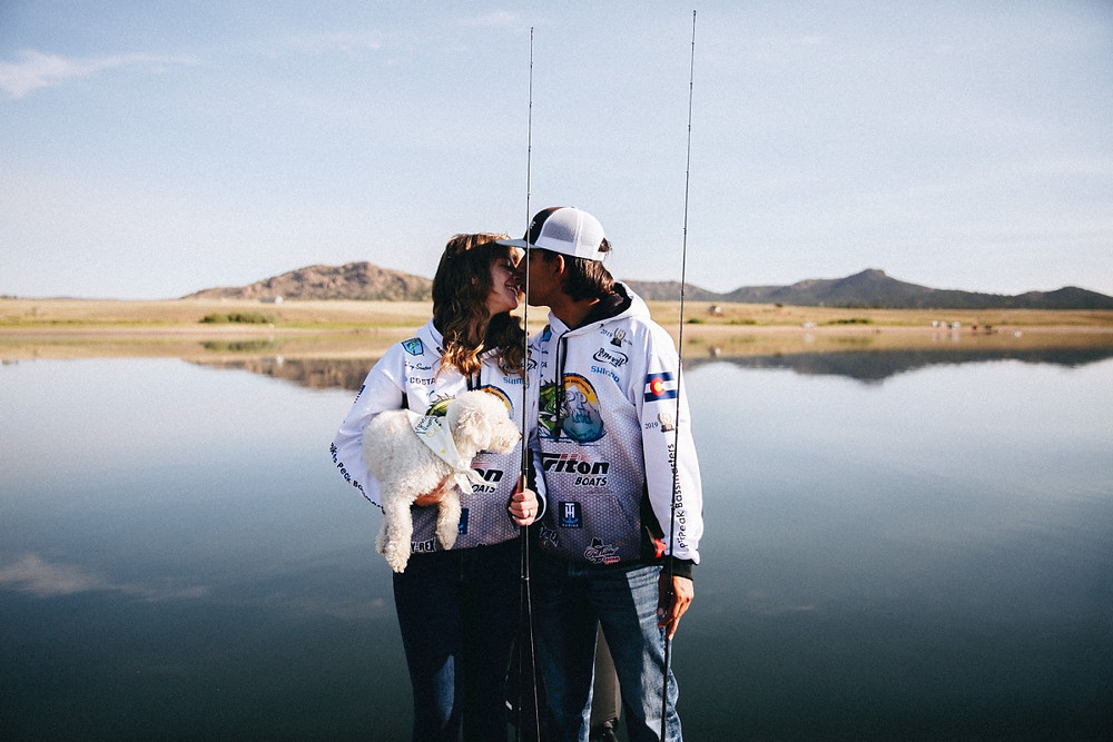 Bass Boat Engagement Session