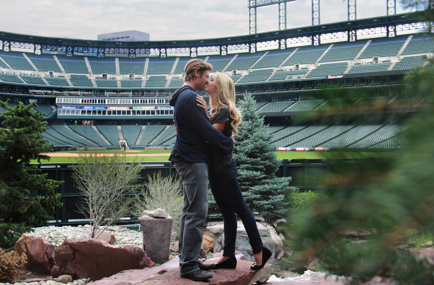 Josh Rutledge and Laura Rutledge - Coors Field Engagement Session
