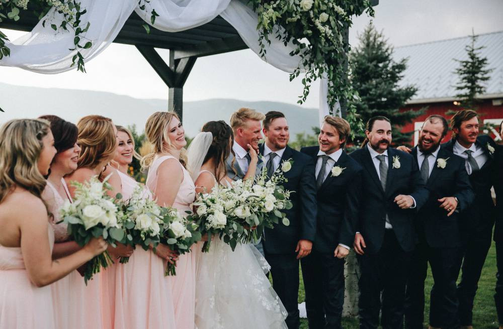 bridal party at crooked willow