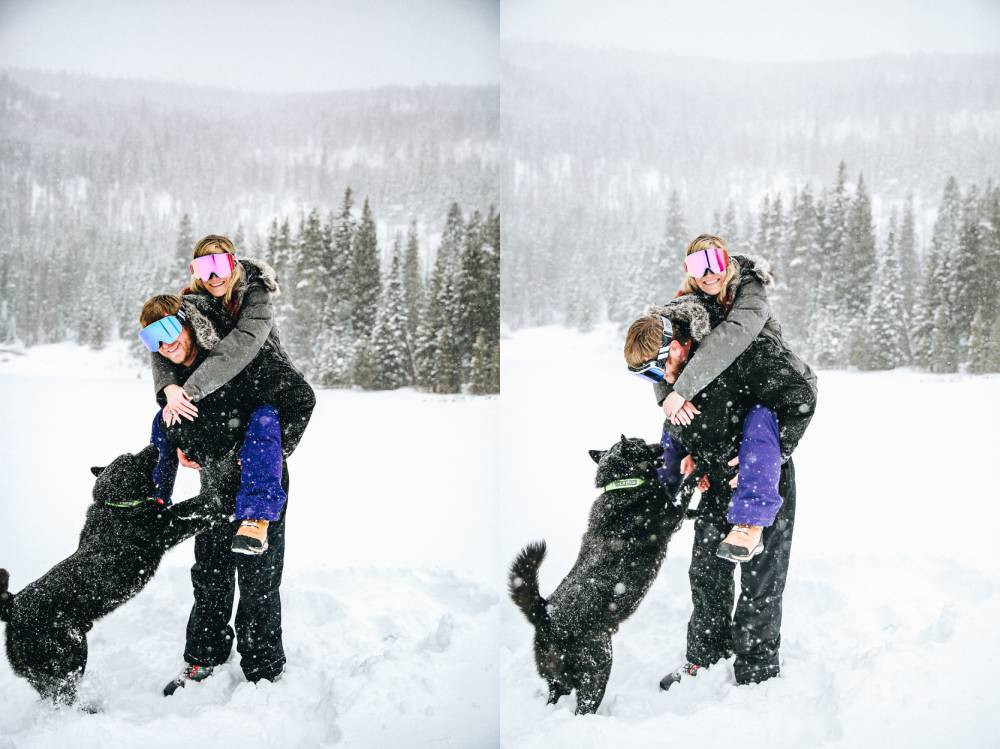 colorado winter engagement photographer