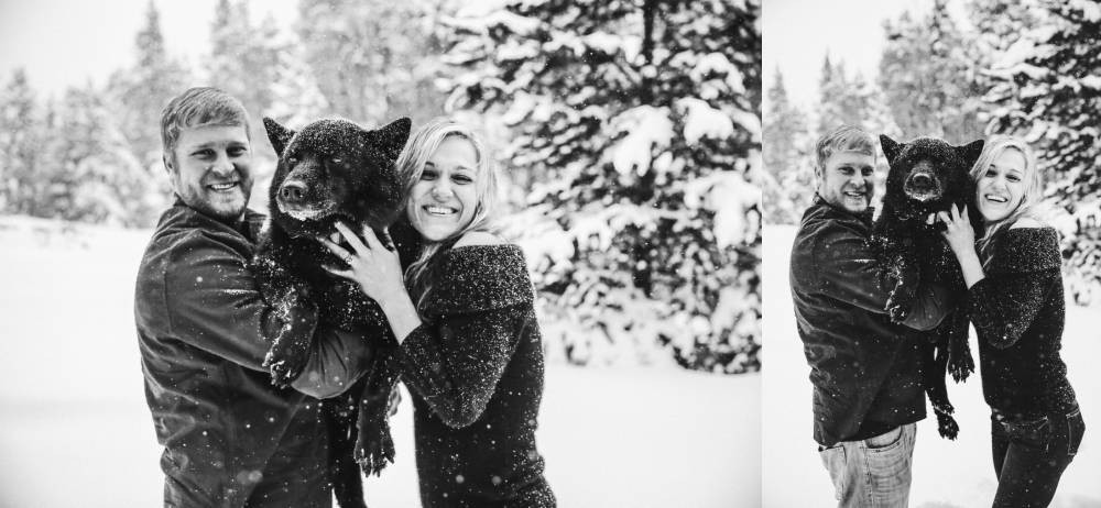 colorado engagement session with dogs
