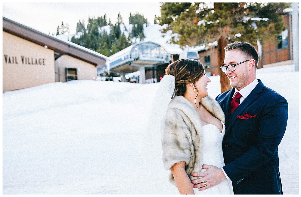 Vail Village Winter Wedding Photographer