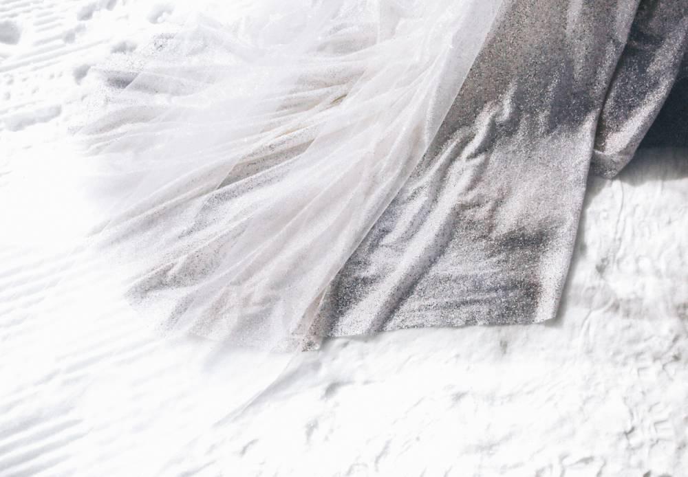 Colorado winter wedding dress