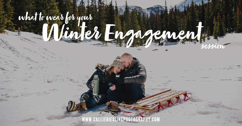 Colorado Winter Engagement Photos