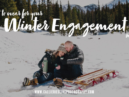 What to Wear for your Colorado Winter Engagement Session