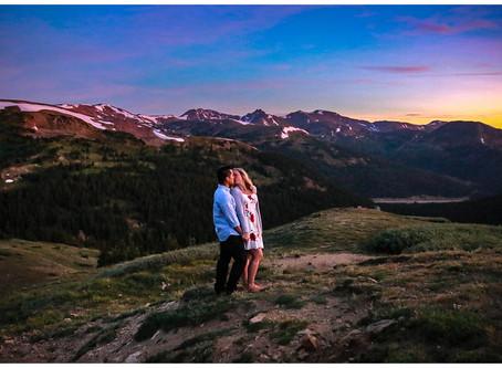 Sunrise at 12,000 Feet - Denver Engagement Photographer