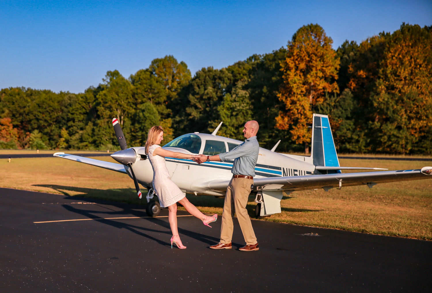 Private Plane Engagement Photography