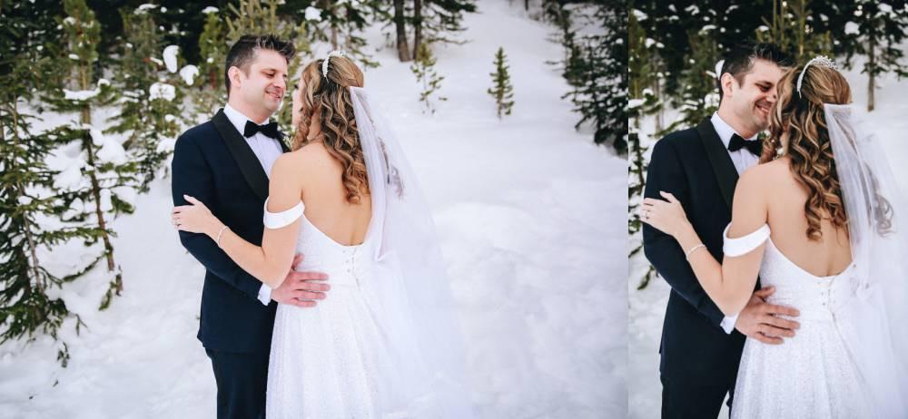 Vail Pass winter wedding