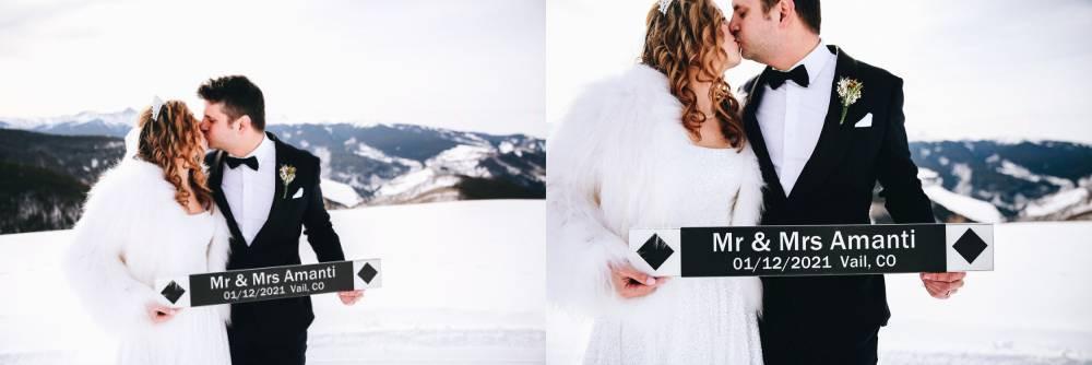 Vail Wedding Deck Winter