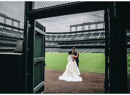 COORS FIELD WEDDING PHOTOGRAPHER | Alec + Chassidy's Colorado Baseball Wedding