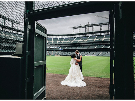 COORS FIELD WEDDING PHOTOGRAPHER | Alec + Chassidy's Colorado Baseball Wedding