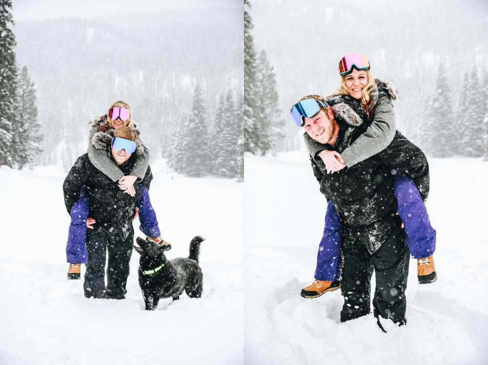 Vail winter engagement photographer