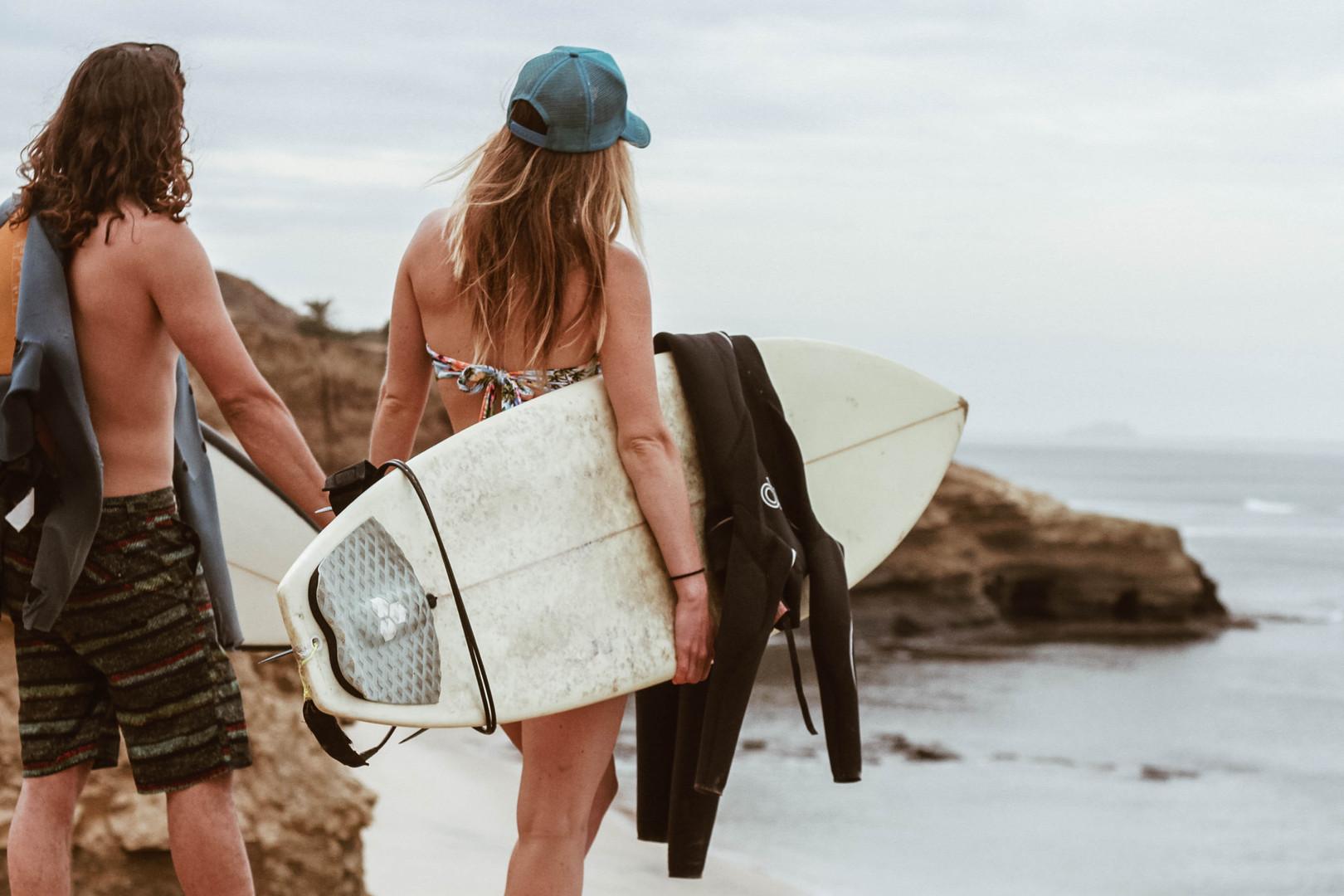 san diego surfing engagement photographer