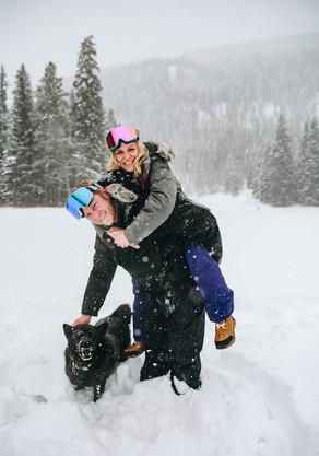 colorado snow engagement session