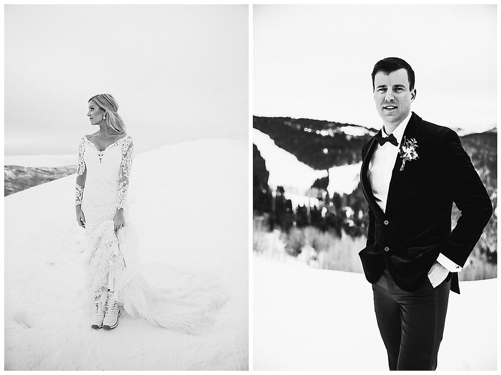 winter Wedding Bride and Groom Inspiration