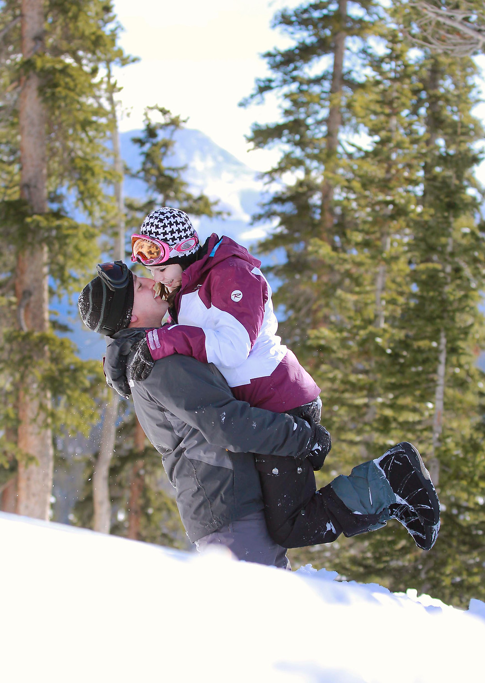 Colorado Snowboarding Engagement Photos