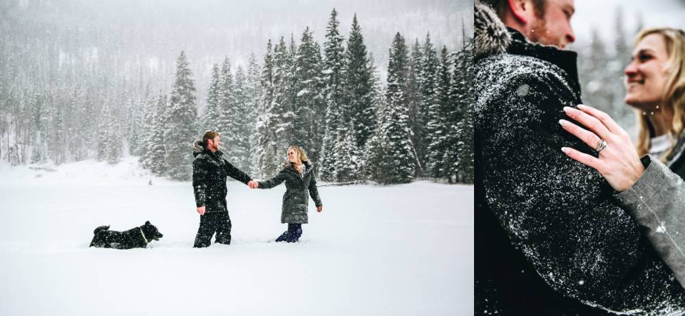 colorado mountain engagement session