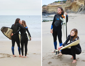 surfing engagement session
