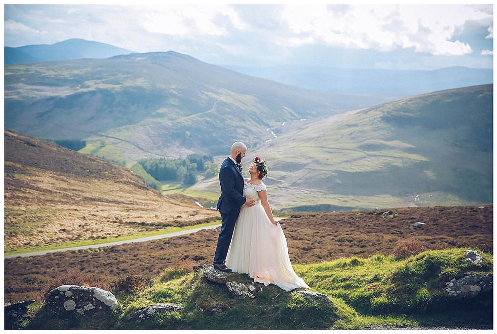 Wicklow Mountain Wedding Photographer