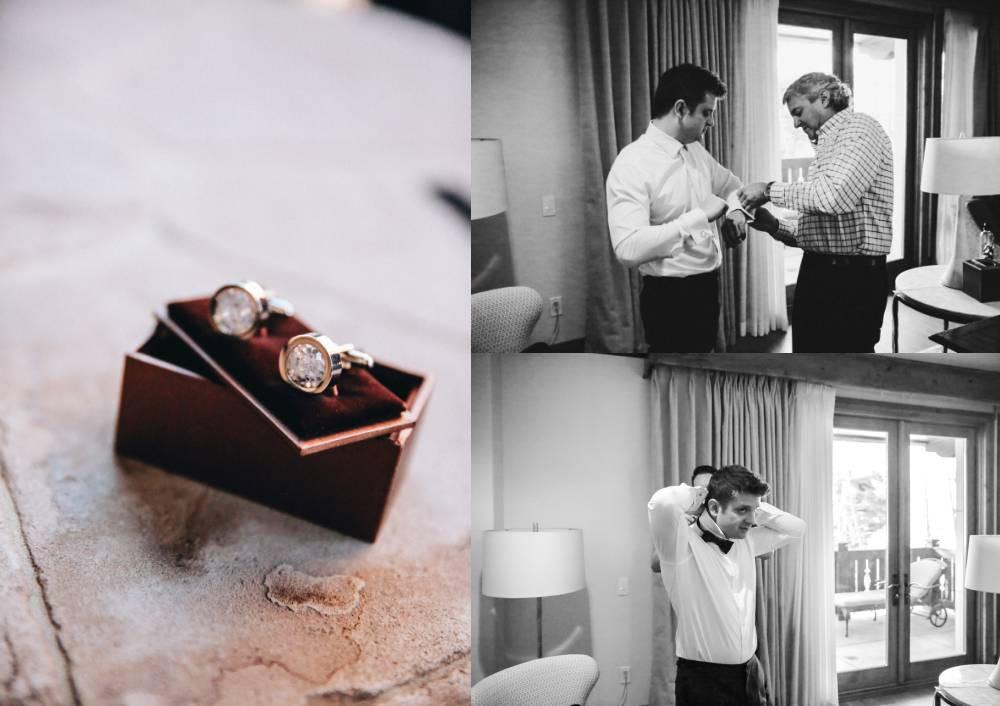 Men's cufflinks made with wedding dress