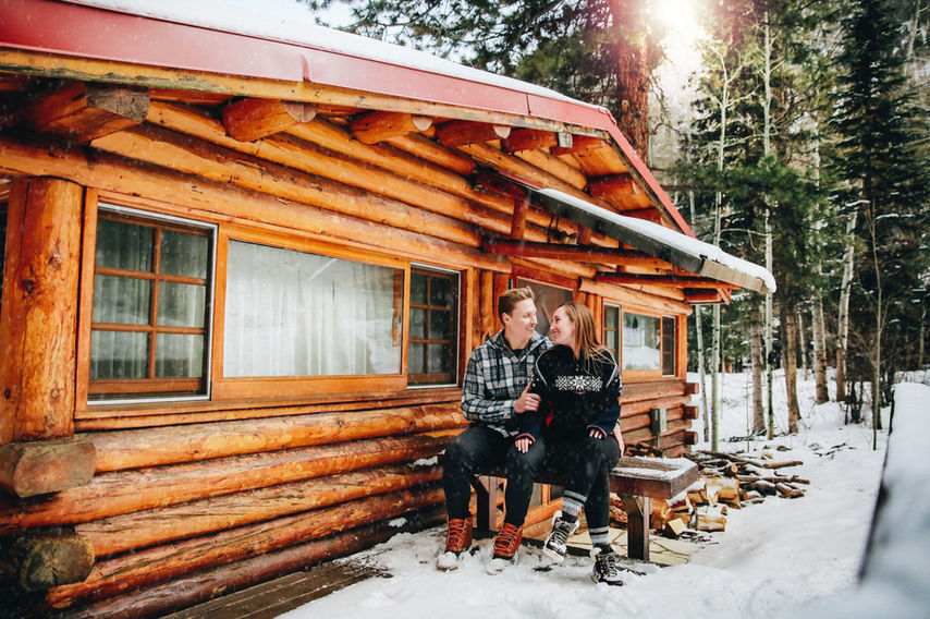 Colorado Cabin Engagement Session