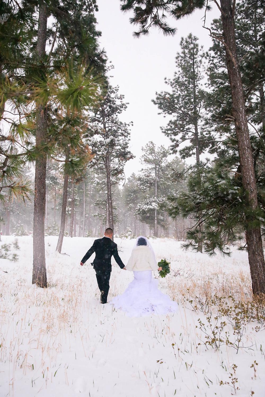 black forest winter wedding