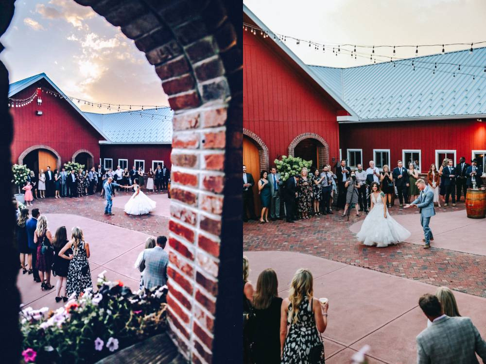outside first dance