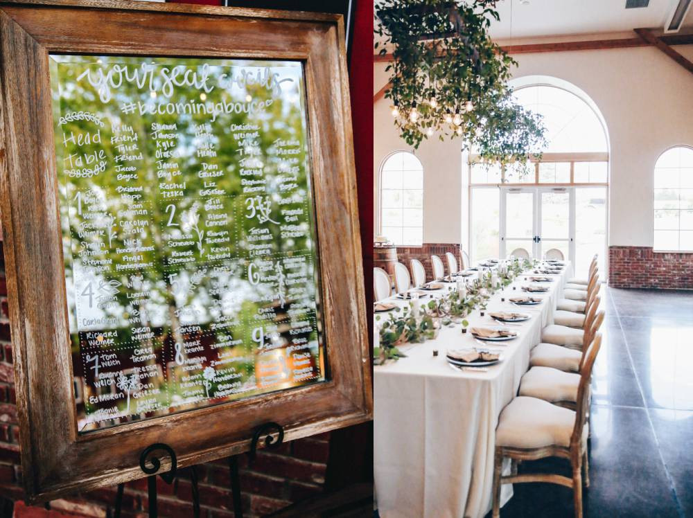 crooked willow farms reception decor