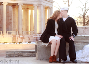 denver engagement photographer - navy engagement photography